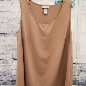 ☕NWOT- Catherine's Tank Top in Mocha, Size 1X WP